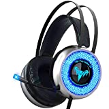 TBI Pro V8 IMBA Gaming Headset with 50MM High-End Dynamic, Comfy Earmuffs, LED, Adjustable Microphone, Mute and Volume Control for XboxOne, 360, S, PS3, PS4, PC, Nintendo, Laptop
