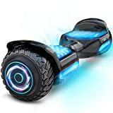 Gyroor Hoverboard Off Road All Terrian 6.5' Two-Wheel G11 Flash LED Light Self Balancing Hoverboards with Bluetooth Music Speaker and UL 2272 Certified for Kids Adults Gift.