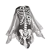 Heritage Lace Skeleton Poncho ,Pewter , 60 by 60-Inch