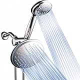 Dream Spa 3-way 8-Setting Rainfall Shower Head and Handheld Shower Combo (Chrome). Use Luxury 7-inch Rain Showerhead or 7-Function Hand Shower for Ultimate Spa Experience!