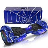 """Emaxusa Hoverboard With Bluetooth Self Balancing Hoverboard For Adults 6.5"""" Two-Wheeled Speaker Bluetooth Hoverboard With LED Lights Hoverboard Scooter For Kids Age 6-12– Meet UL2272 Standards (Blue)"""