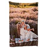 Custom Sofa Blanket with Photos ,Personalized Throw Blankets with Picture, Soft Flannel Blankets Bed Throws Mom Dad Gift for Baby Kid Family Friend as Gifts for Birthday Christmas Valentine Day
