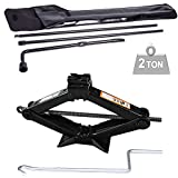 Autofu Spare Tire Tool Fits Ford F250 F350 F450 F550 Super Duty 2003-2007 Pickup Truck Extension Lug Wrench Tools Wheel Replacement Kit and Universal Use Scissor Jack 2 Ton Set