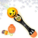 ArtCreativity Light Up Halloween Bubble Blower Wand - 13.5 Inch Illuminating Bubble Blower Wand with Thrilling LED Effect for Kids, Bubble Fluid - Batteries Included - Gift Idea, Halloween Party Favor