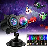 Halloween Lights Outdoor, Christmas Halloween Projector Lights Outdoor, 26 HD Effects 3D Ocean Wave & Patterns Waterproof with Remote Timer, Holiday Projector Indoor for Xmas Decor Theme Holiday Party