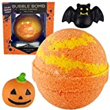 Spooky Bubble Bath Bomb for Kids with Surprise Halloween Squishy Toy Inside by Two Sisters. Large 99% Natural Fizzy in Gift Box. Moisturizes Dry Sensitive Skin. Releases Color, Scent, Bubbles