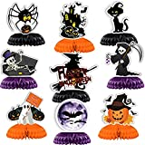 9PCS Halloween Table Decorations Pumpkin and Skeleton Table Toppers Horror Theme For Baby Birthday Party