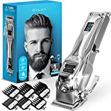 [Newest 2021] Hair Clippers for Men - Professional Cordless Rechargeable Clippers for Hair Cutting, Full Metal Beard Trimmer, Barbers Trimmer, Birthday Gifts for Men, Gifts for Him Dad, Silver