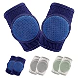 Baby Knee Pads for Crawling, Knee Pads for Baby Adjustable Protector for Toddler 3 Pairs