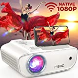 MOOKA Native 1080P Projector with WiFi , 8500L HD Movie Projector for Outdoor Use, Zoom, Sleep Timer, HiFi Speaker, Support 300' Screen Home Halloween Projector for Phone/TV Stick/PC/ Laptop/ PS4/Xbox
