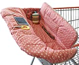 Suessie Shopping Cart Cover and High Chair Cover, Pink Dots