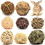 Youngever 8 Pack Small Animal Activity Toys, Assorted Rabbit Balls, Chewable Teething Activity Toys for Bunny, Rabbit, Hamster, Guinea Pig