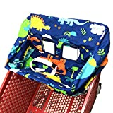 Portable Shopping Cart Cover | High Chair and Grocery Cart Covers for Babies, Kids, Infants & Toddlers ✮ Includes Free Carry Bag ✮ (Simple Dinosaur)