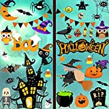 156pcs Halloween Decorations Window Clings, Decals Decor Wall Bats Ghost Stickers - Cling Cat Pumpkin Cute Spider Witch Glass Decal Halloween Party Sticker