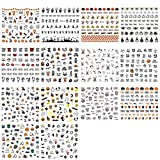 14 Sheets Halloween Nail Stickers, Self-Adhesive Nail Art Sticker Decals Manicure Nail Tip Decoration