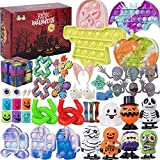 48 Pack Pop Fidget Packs, Halloween Fidget Toys Set, Push Pop Bubble Toys Stress Relief Anti-Anxiety Toys, Fidget Toys for Kids and Adults, Birthday Party Favors,Classroom, Goodie Bag Fillers