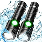 Tactical Flashlight, 1200Lumen Super Bright LED Flashlight Rechargeable, IPX6 Waterproof, Pocket-Sized T6 LED Torch with Clip, 4Modes LED Flashlight for Camping, Emergency, 2 Pack