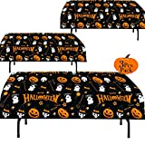 """Halloween Plastic Tablecloth   3 Pcs Pack (54"""" Inch Wide x 102"""" Inch Long)   Halloween Rectangular Table Cover   Pumpkin, Witches Table Decoration   Halloween Party Decorations Tablecover  by Anapoliz"""