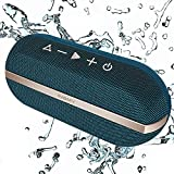 INSMY Portable Bluetooth Speakers, 20W Wireless Speaker Loud Stereo Sound Rich Bass, IPX7 Waterproof Floating Stereo Pairing 24 Hours Bluetooth 5.0 Built-in Mic for Outdoors Camping (Blue)