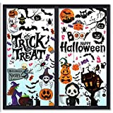 CIIRED 96pcs Halloween Window Clings for Glass Windows Halloween Window Decals Double-Sided Stickers Removable for Halloween Party Window Decorations